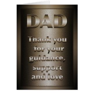 Cartão Obrigado, pai (o bronze)