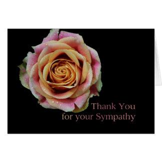 Cartão Obrigado para a simpatia - o dobro colorido
