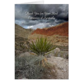 Cartão Obrigado para a simpatia, tempestade da montanha