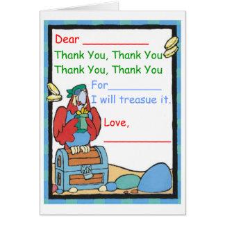 Cartão Obrigado para (o presente de A)