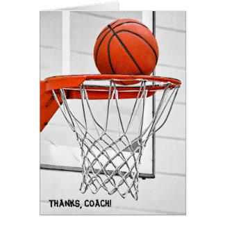 Cartão obrigado para o treinador de beisebol