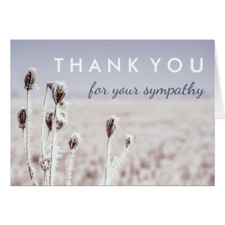 Cartão Obrigado para seu inverno da simpatia |