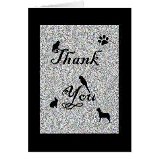 Cartão Obrigado para seu veterinário do negócio