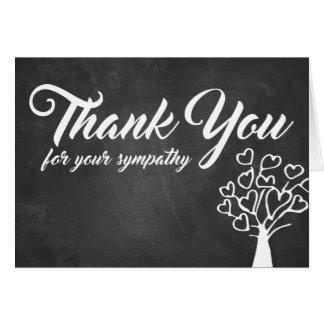 Cartão Obrigado para sua árvore do quadro da simpatia |