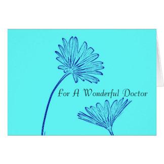 Cartão Obrigado - para um doutor maravilhoso