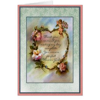 Cartão Obrigado partido nupcial do florista