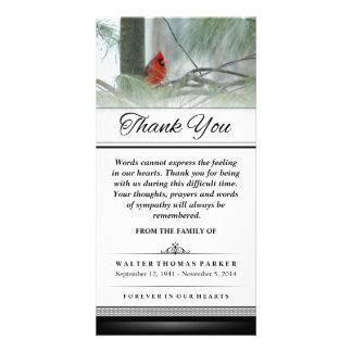 Cartão Obrigado pássaro que cardinal as palavras não