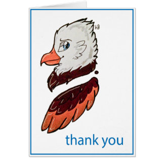 Cartão Obrigado patriótico você