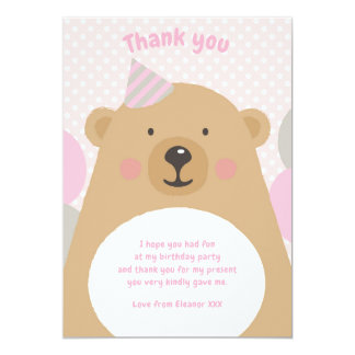 Cartão Obrigado peluches bonito do urso de ursinho você