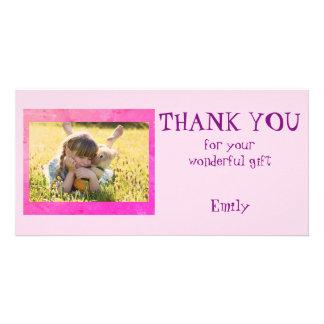 Cartão Obrigado personalizado você foto