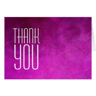 Cartão Obrigado planície cor-de-rosa moderna profissional