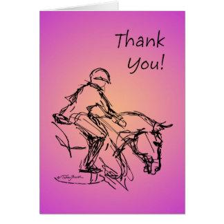 Cartão Obrigado pônei! Rosa