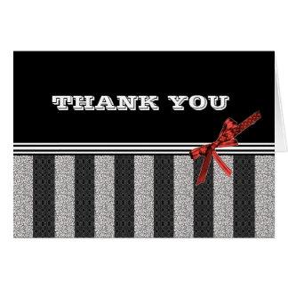 Cartão Obrigado preto & branco você notas