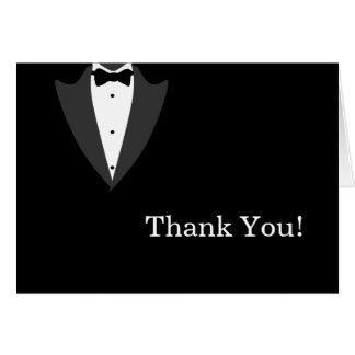 Cartão Obrigado preto e branco do smoking você