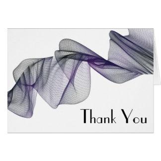 Cartão Obrigado preto & roxo do gótico do véu você
