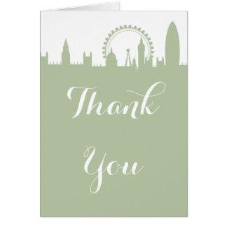 Cartão Obrigado prudente do partido da skyline de Londres