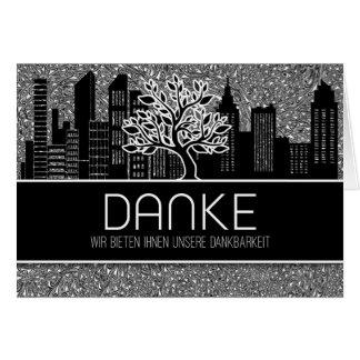Cartão Obrigado que alemão do negócio de Danke você anula