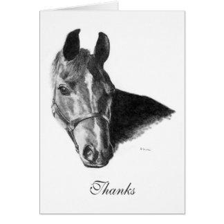 Cartão Obrigado que árabe da cabeça de cavalo da grafite