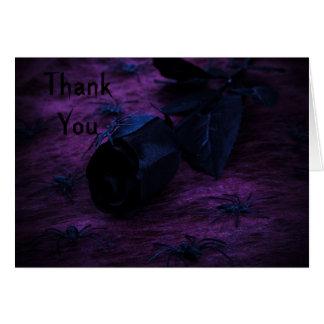 Cartão obrigado que assustador do rosa você nota