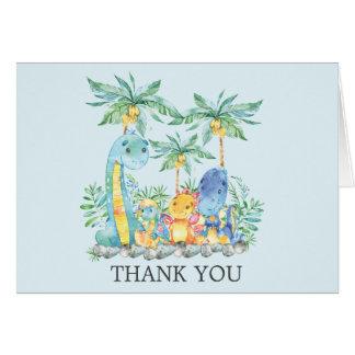 Cartão Obrigado que bonito do chá de fraldas dos