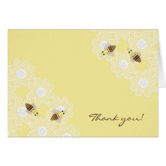 Cartão Obrigado que da abelha do mel você amarela