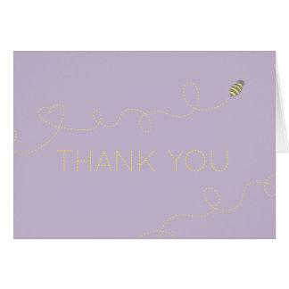 Cartão Obrigado que da abelha do mel você nota