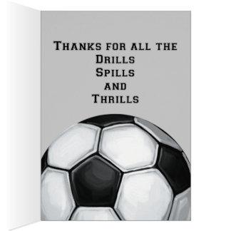 Cartão Obrigado que da arte da bola de futebol você