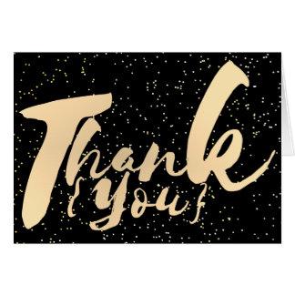 Cartão Obrigado que da caligrafia do ouro você pontilha