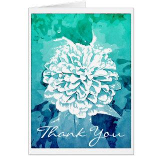 Cartão Obrigado que da dália você nota