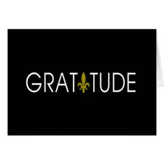 Cartão Obrigado que da gratitude você nota
