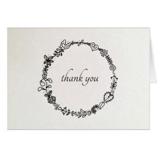 Cartão Obrigado que da grinalda do francês você nota