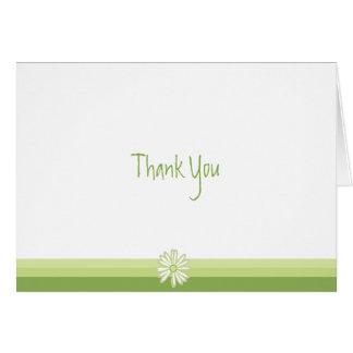 Cartão Obrigado que da margarida do primavera você nota
