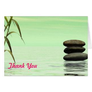 Cartão obrigado que da paisagem do lago você nota