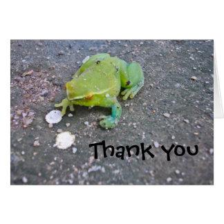 Cartão Obrigado que de Froggie você nota