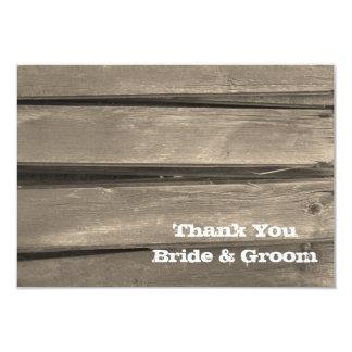 Cartão Obrigado que de madeira do casamento do celeiro do