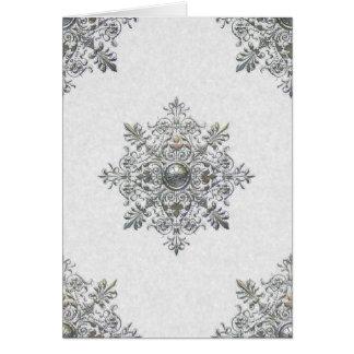 Cartão Obrigado que de prata do floco de neve você nota