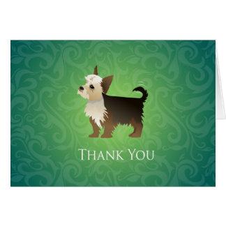 Cartão Obrigado que de Yorkie você projeta