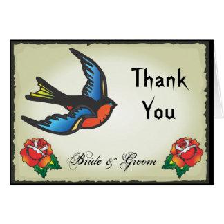 Cartão Obrigado que do casamento do tatuagem você nota