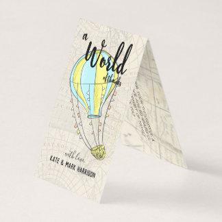 Cartão Obrigado que do chá de fraldas | do balão de ar