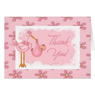 Cartão Obrigado que do chá de fraldas você nota
