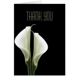 Cartão Obrigado que do lírio de Calla você nota