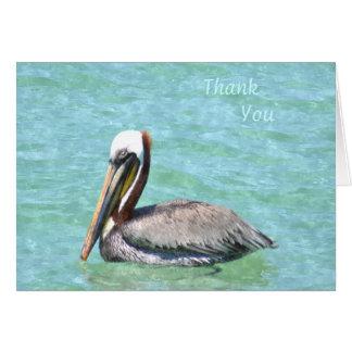 Cartão Obrigado que do pelicano você nota