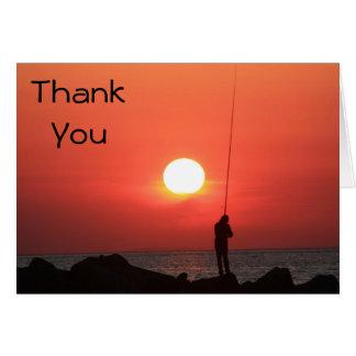 Cartão obrigado que do pescador você nota