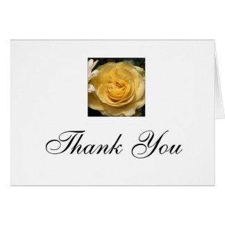 Cartão Obrigado que do rosa amarelo você nota