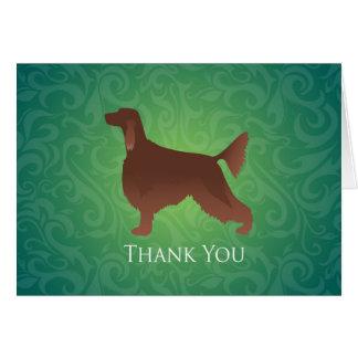 Cartão Obrigado que do setter irlandês você mostra em