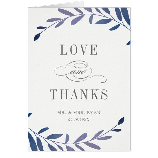 Cartão Obrigado que dobrado louros da foto de Ombre você