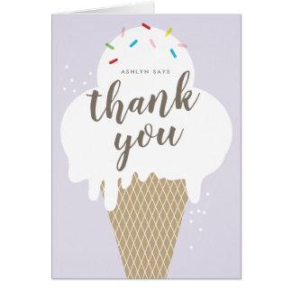 Cartão Obrigado que dos miúdos do cone do sorvete você