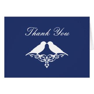 Cartão Obrigado que dos pardais dos azuis marinhos e do