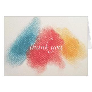 Cartão Obrigado que francês do Cor-Gráfico você nota