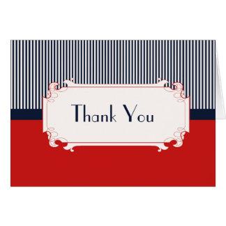 Cartão Obrigado que náutico das cartas de amor você nota